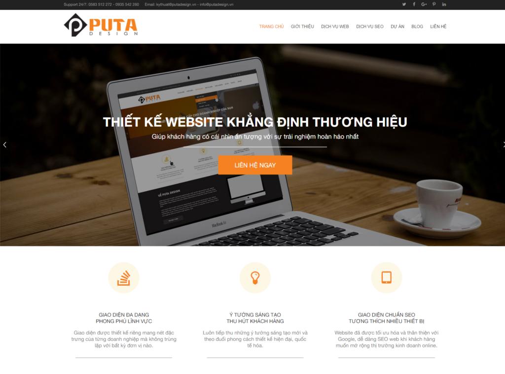 Puta Design - Thiết kế web Nha Trang, Chuẩn SEO đa ngôn ngữ
