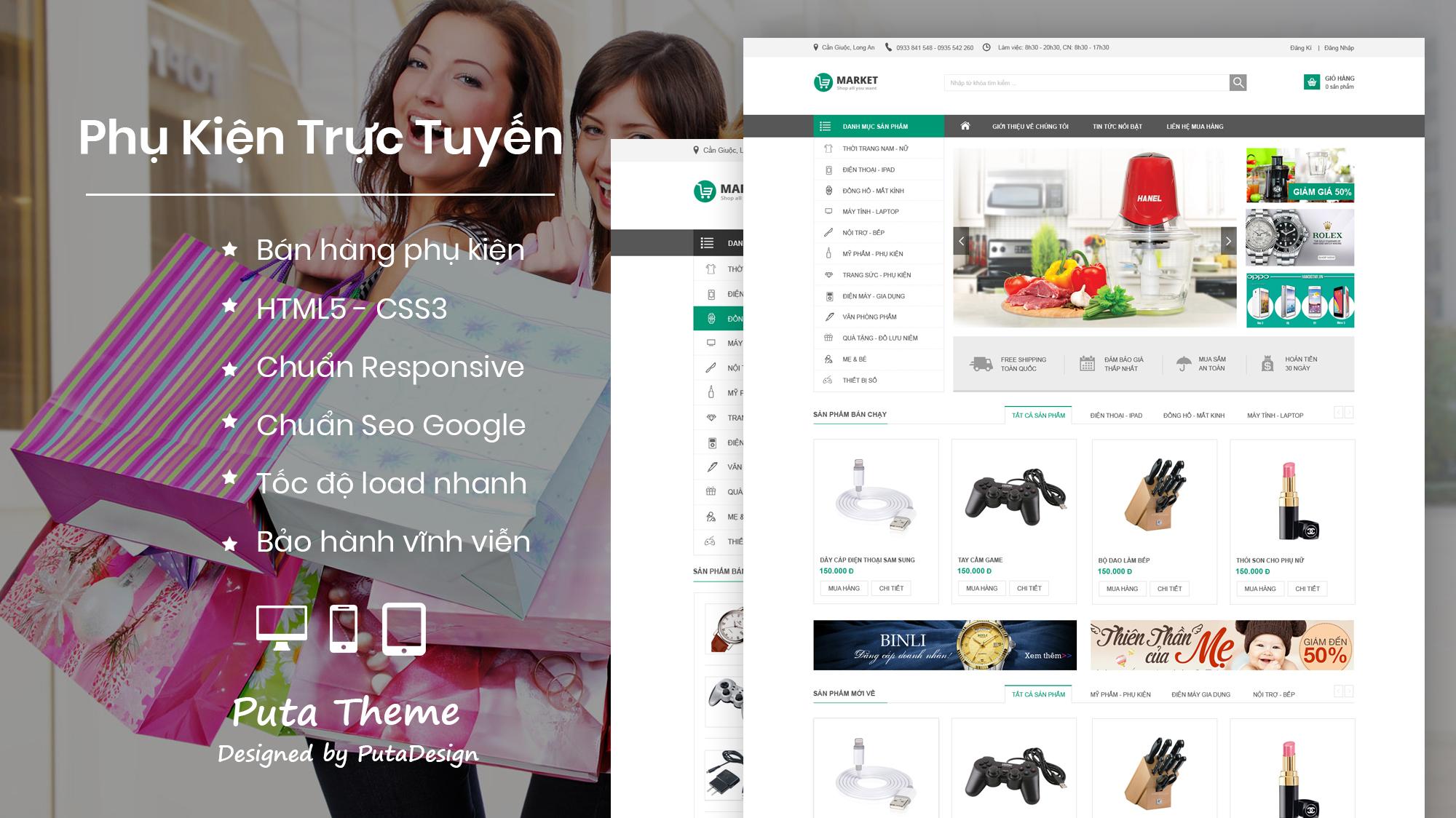 Shop Wordpress Puta Theme Market