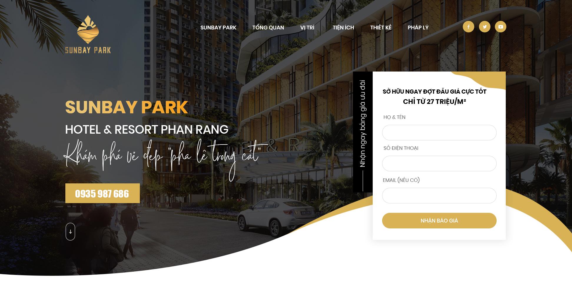Thiết kế Landing Page Bất Động Sản Nha Trang | PutaDesign