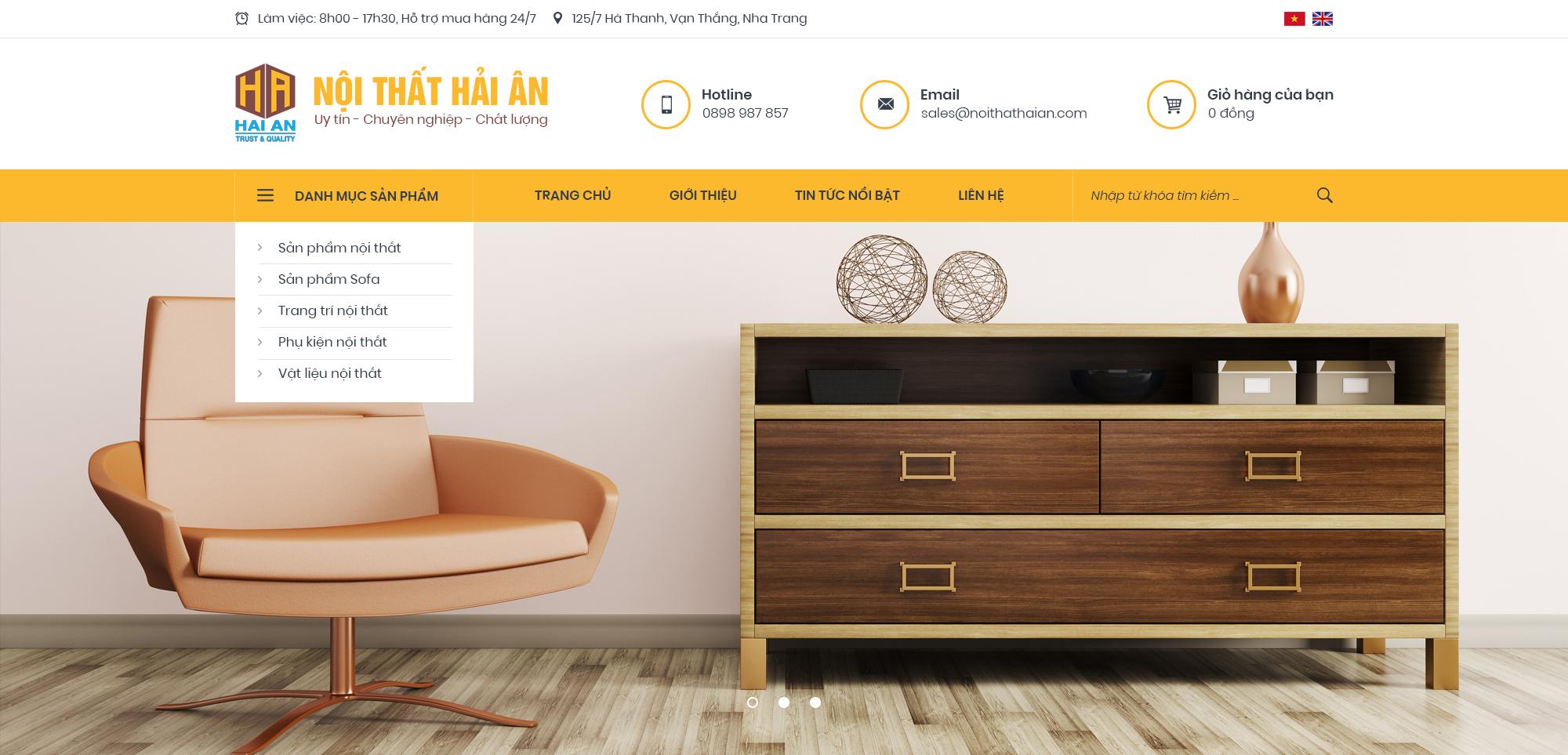 Thiết kế web Nội Thất Nha Trang | PutaDesign