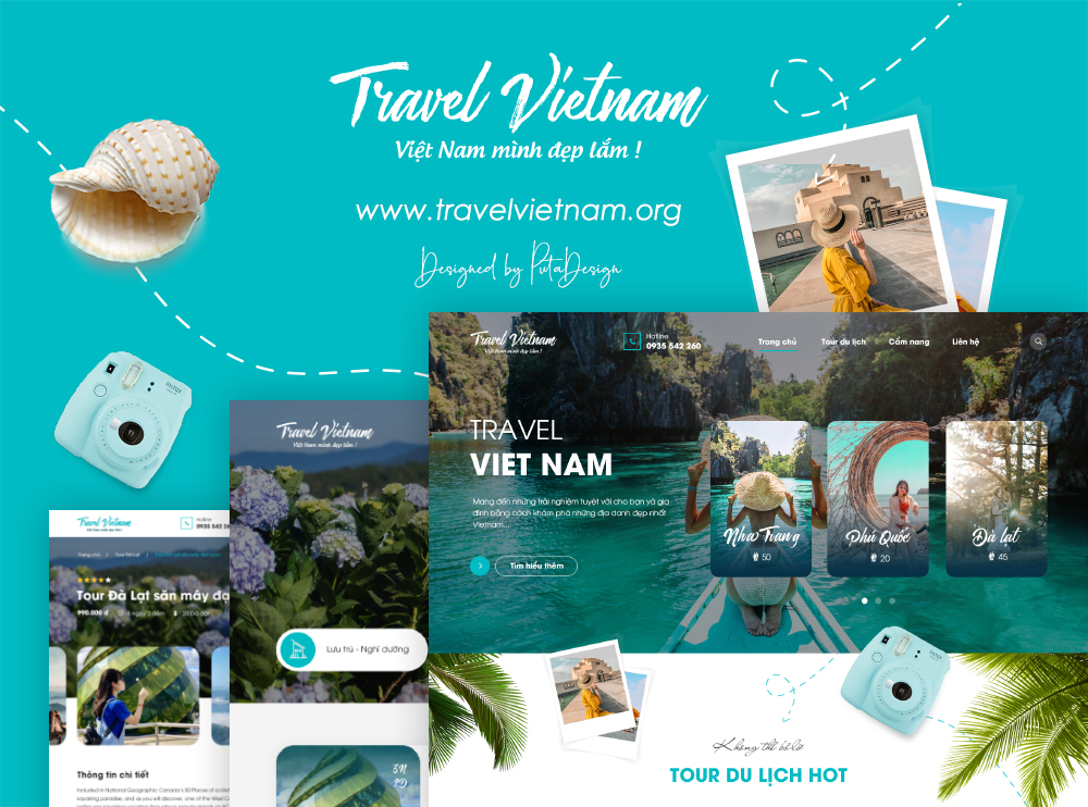 Travel Viet Nam | Thiết kế web Nha Trang | PutaDesign